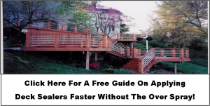 A Free guide on applying deck sealer and some deck sealing tips.