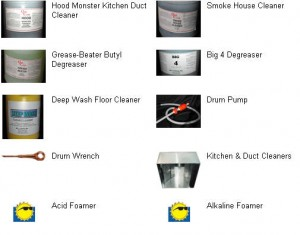 kitchen exhaust cleaning chemicals