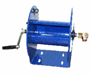 Cox hose reels for pressure washing trailers